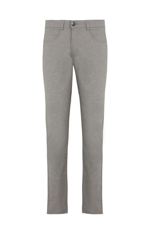 Gri Desenli Slim Fit Spor Pantolon