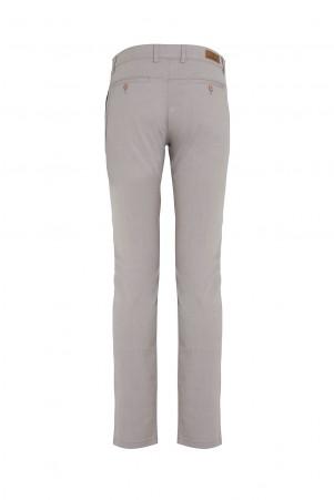 Gri Slim Fit Kanvas Pantolon - Thumbnail