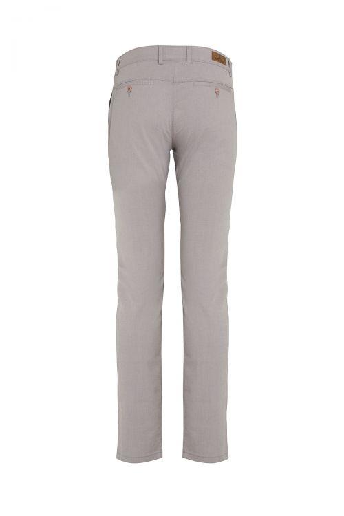 Gri Slim Fit Kanvas Pantolon