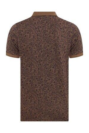 Kahverengi Desenli Polo Yaka Tişört