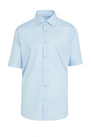 Mavi Regular Fit Kısa Kol Gömlek - Thumbnail