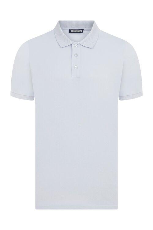 Açık Mavi Polo Yaka Tişört