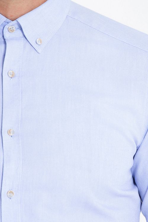 Slim Fit Açık Mavi Oxford Gömlek