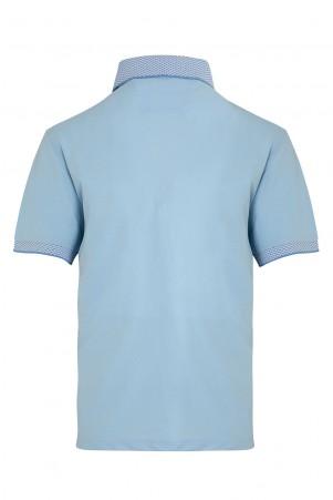 Açık Mavi Polo Yaka Tişört - Thumbnail