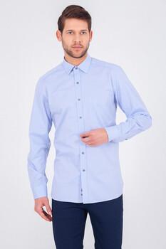 Açık Mavi Regular Gömlek - Thumbnail