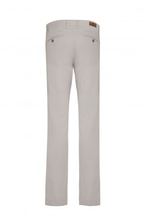 Gri Desenli Regular Fit Kanvas Pantolon - Thumbnail