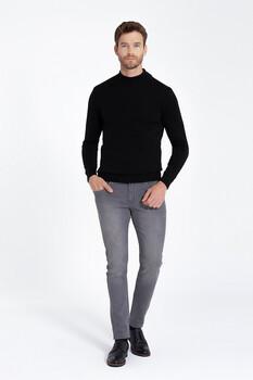 Gri Slim Fit Kot Pantolon - Thumbnail