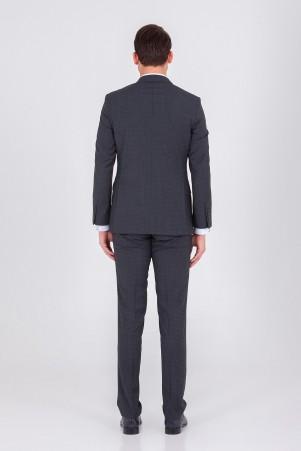 Antrasit Desenli Slim Fit Takım Elbise - Thumbnail