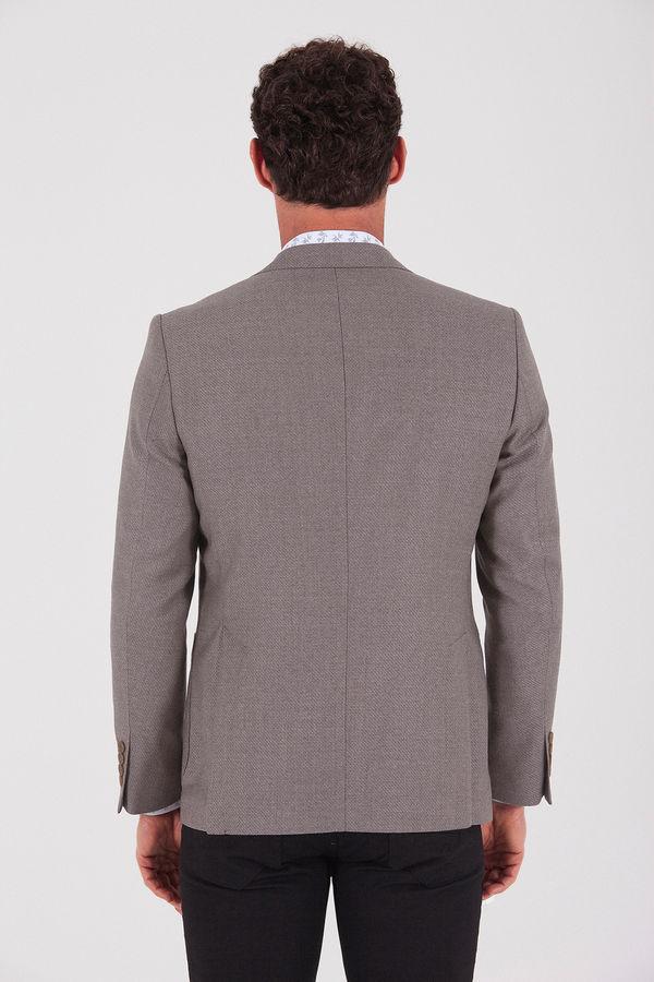 Vizon %100 Yün Slim Fit Ceket