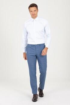 Slim Fit Buz Mavi Gömlek - Thumbnail