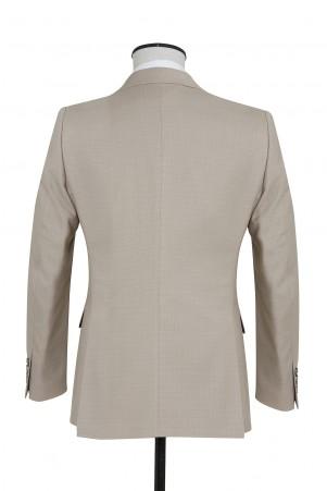 Bej Desenli Slim Fit Takım Elbise - Thumbnail