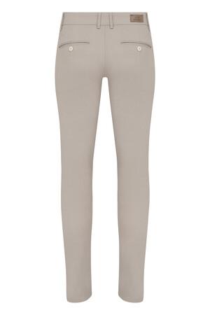 Bej Desenli Slim Fit Spor Pantolon - Thumbnail