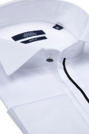 Beyaz Ata Yaka Cerimonia Gömlek - Thumbnail