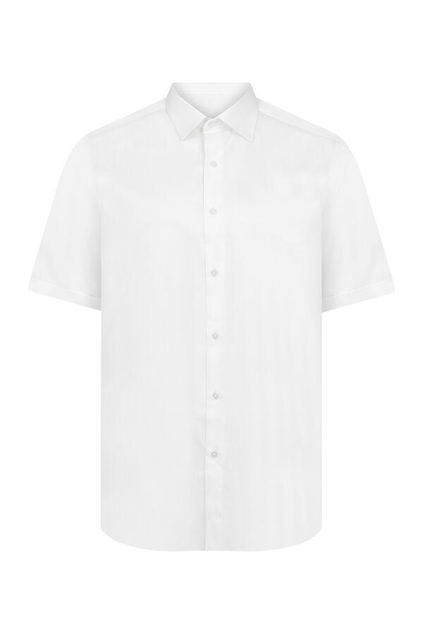 Kısa Kol Beyaz Klasik Gömlek