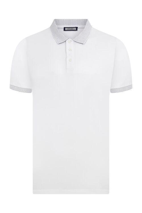 Beyaz Polo Yaka Tişört