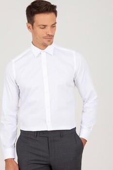 Slim Fit Beyaz Gömlek - Thumbnail