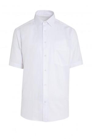 Beyaz Kısa Kol Klasik Gömlek - Thumbnail