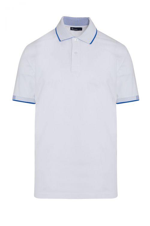 Beyaz Polo Yaka Regular Fit Tişört