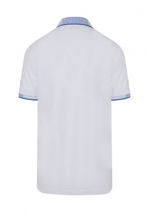 Beyaz Polo Yaka Regular Fit Tişört - Thumbnail