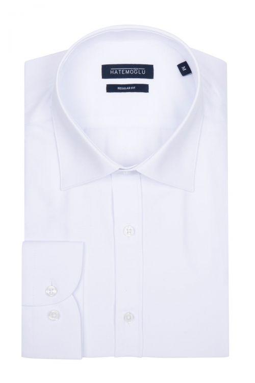Beyaz Klasik Uzun Kol Gömlek