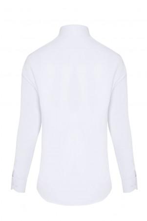 Beyaz Klasik Uzun Kol Gömlek - Thumbnail