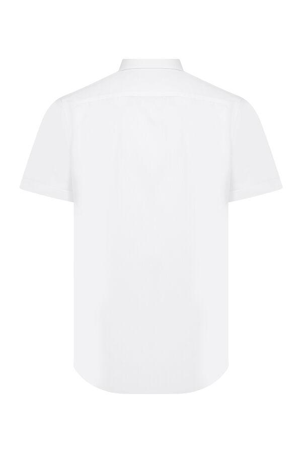 Beyaz Slim Fit Kısa Kol Gömlek