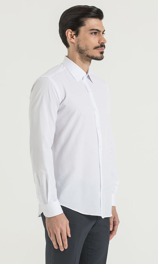 Beyaz Slim Fit Gömlek