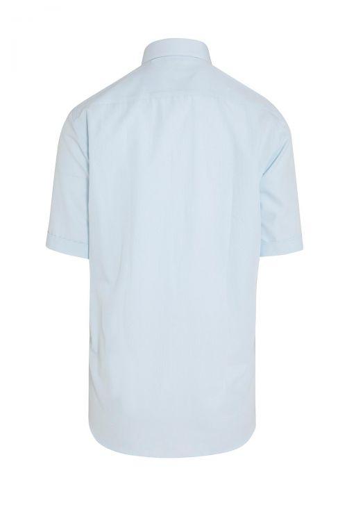 Mavi Kısa Kol Desenli Gömlek