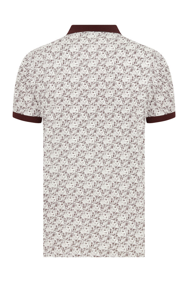 Bordo Baskılı Polo Yaka Tişört
