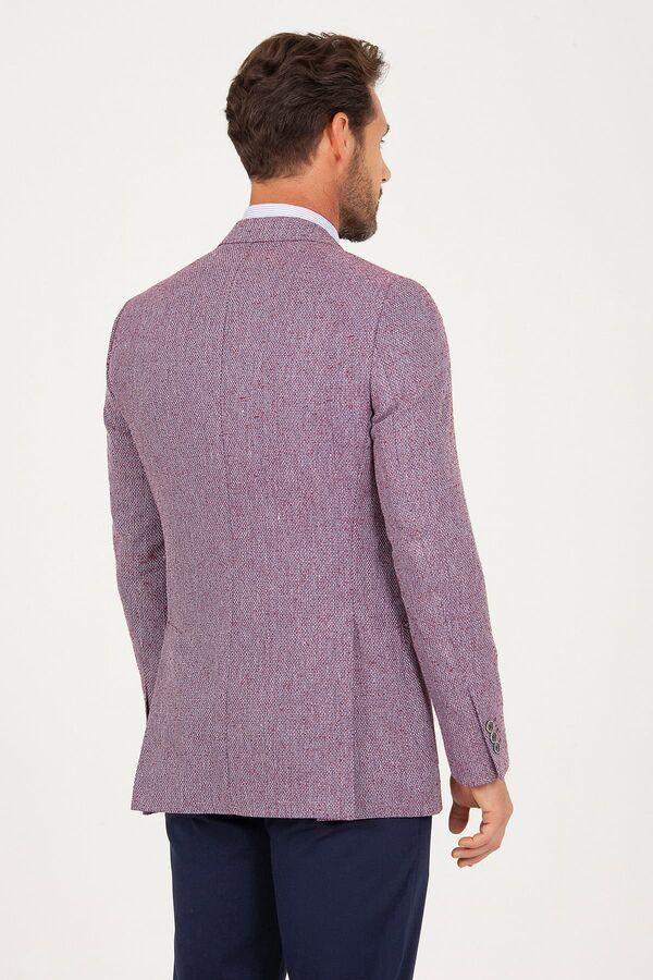 Bordo Slim Fit Ceket