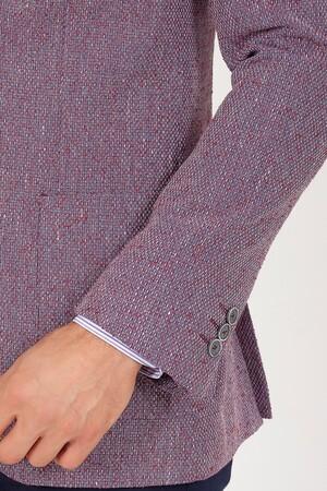Bordo Slim Fit Ceket - Thumbnail