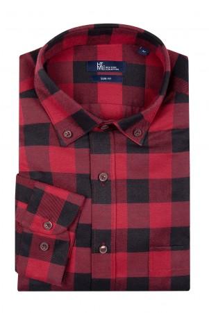 Kırmızı Kareli Oduncu Gömlek - Thumbnail