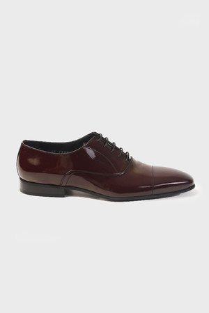 Bordo Klasik Oxford Ayakkabı - Thumbnail