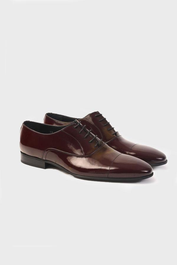 Bordo Klasik Oxford Ayakkabı
