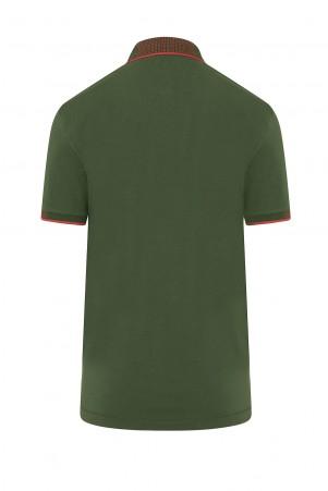 Çağla Yeşil Polo Yaka Regular Fit Tişört - Thumbnail