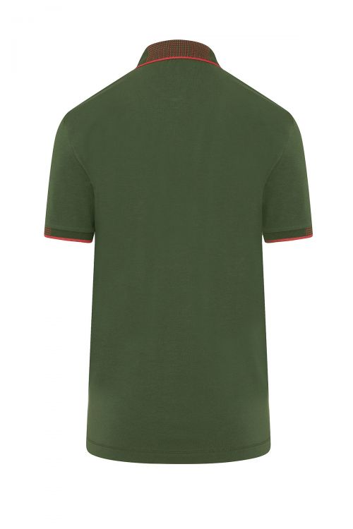 Çağla Yeşil Polo Yaka Regular Fit Tişört