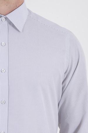 Siyah Çizgili Slim Fit Gömlek - Thumbnail