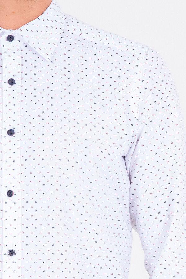 Desenli Bordo Slim Fit Gömlek