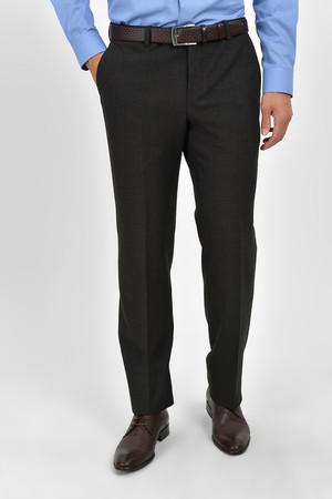 Kahverengi Slim Fit Kumaş Pantolon - Thumbnail
