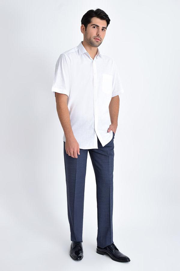 Kısa Kol Beyaz Desenli Gömlek