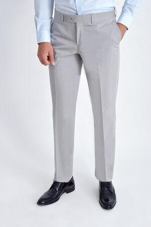 Desenli Klasik Vizon Pantolon