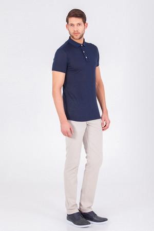 Lacivert Polo Yaka Basic Tişört - Thumbnail