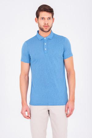 Mavi Polo Yaka Basic Tişört - Thumbnail