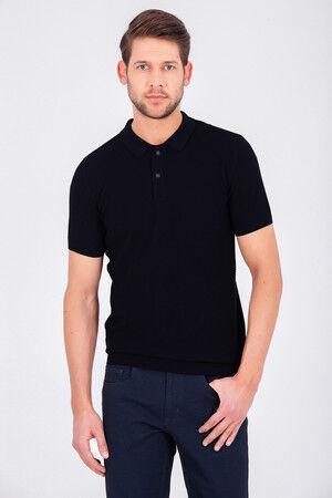 Siyah Polo Yaka Basic Tişört