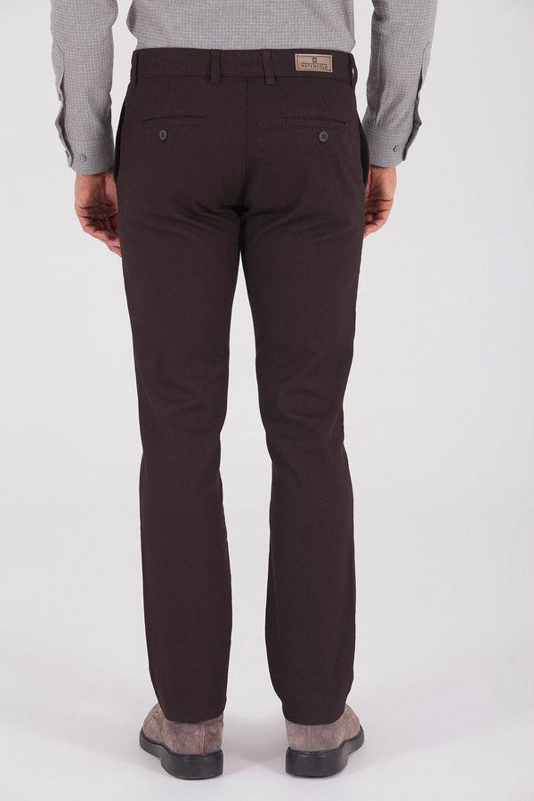 Desenli Regular Kahverengi Pantolon