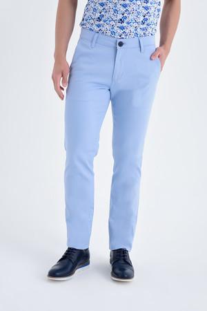 Desenli Regular Mavi Pantolon - Thumbnail