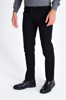 Siyah Regular Fit Spor Pantolon - Thumbnail