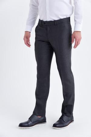 Desenli Slim Fit Bordo Pantolon - Thumbnail