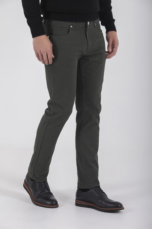 Haki Slim Fit Spor Pantolon - Thumbnail