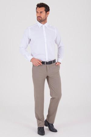 Bej Slim Fit Kumaş Pantolon - Thumbnail